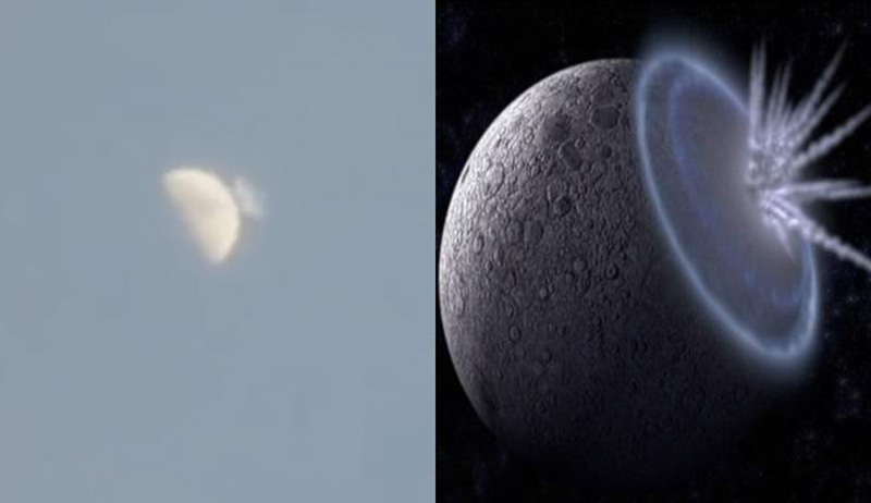 На Луну упал гигантский астероид