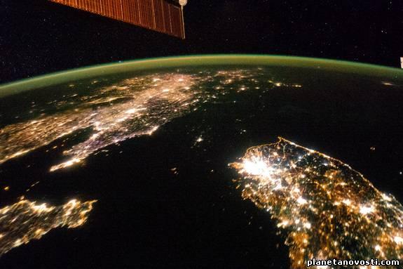 Потрясающее фото Северной Кореи с МКС