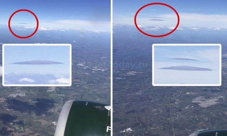 Семилетний пассажир авиалайнера заметил НЛО при посадке