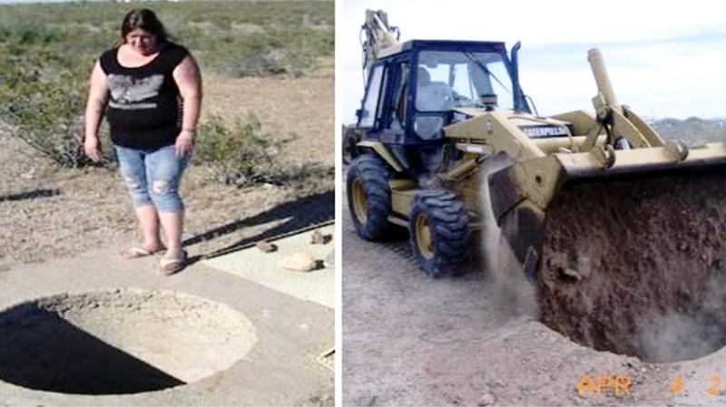 В штате Аризона засыпали углубление в земле неизвестного происхождения