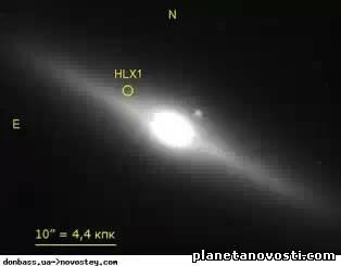 Черная дыра HLX-1 вновь начала светиться