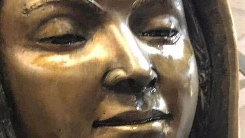 Маслянистая жидкость с запахом лаванды: в американском храме заплакала статуя Девы Марии