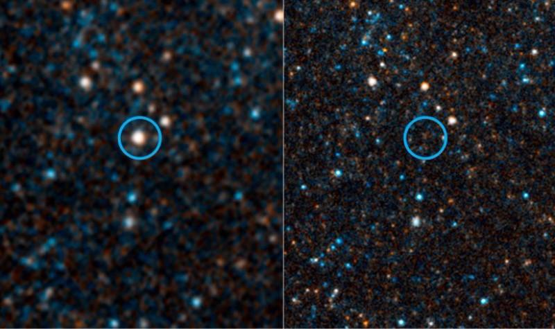 Во Вселенной внезапно исчезла звезда