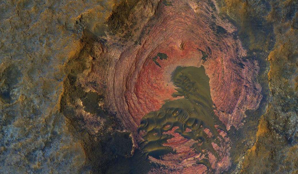НАСА обнародовало уникальный снимок поверхности Марса