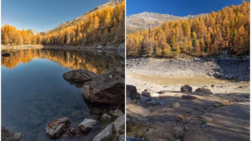 В Италии исчезло знаменитое Голубое озеро