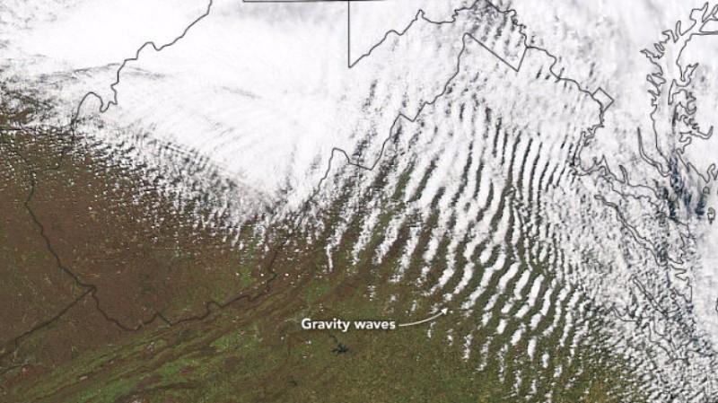 В небе над США запечатлели «священные гравитационные волны»