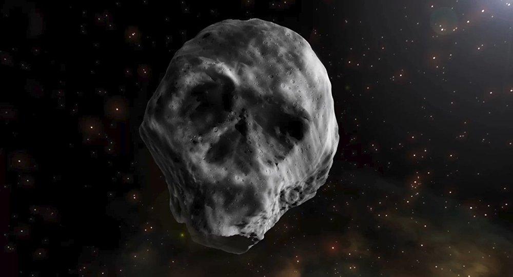 К нашей планете приближается астероид в форме черепа