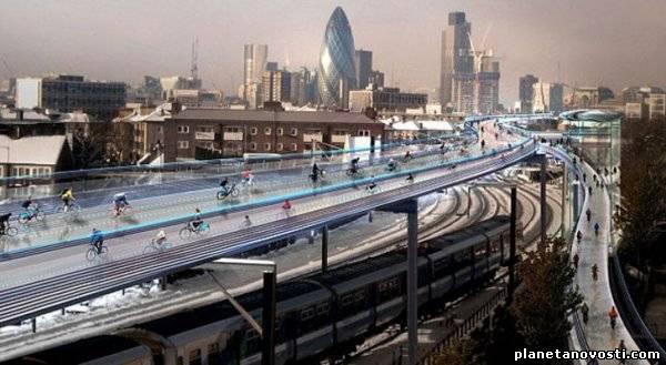 В Лондоне появится надземная сеть велодорожек