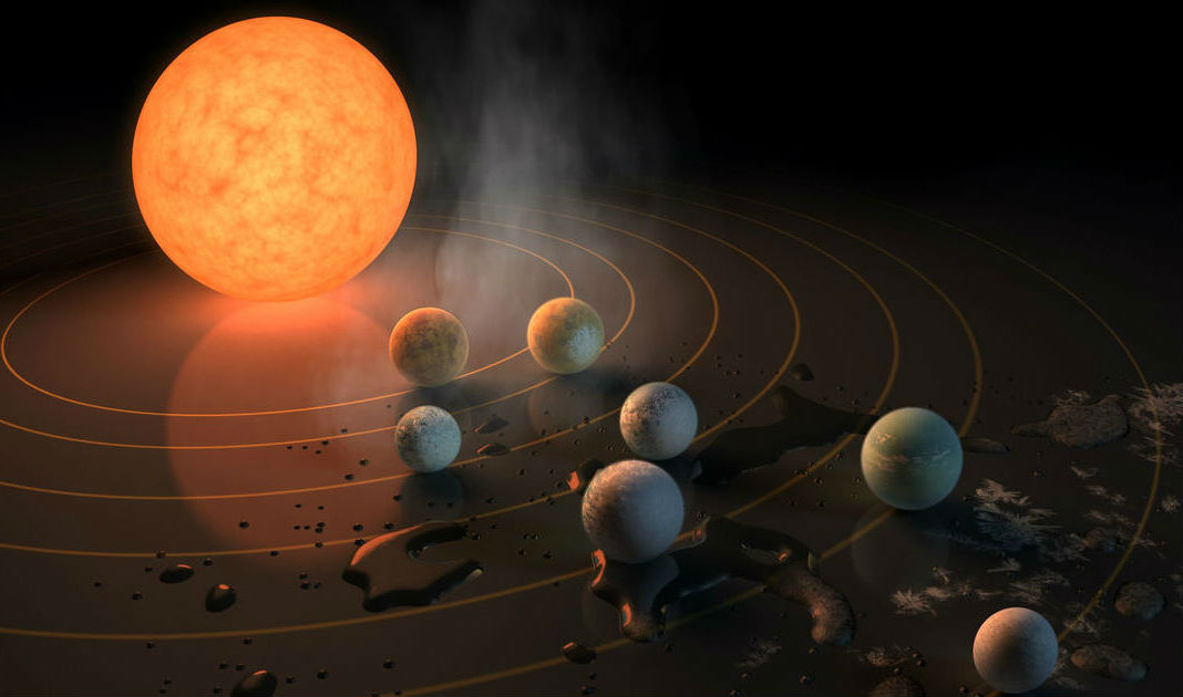 NASA обнаружило семь потенциально обитаемых планет