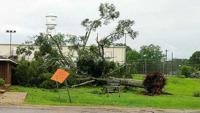 В американском штате Миссисипи пронесся мощный шторм