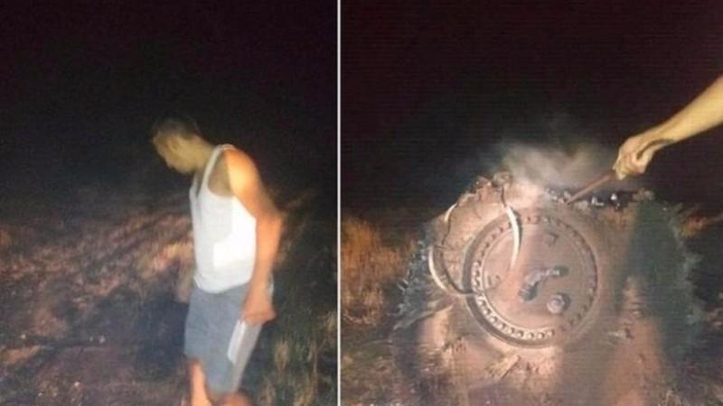 Металл мягкий, как ткань: в Казахстане упал огромный НЛО