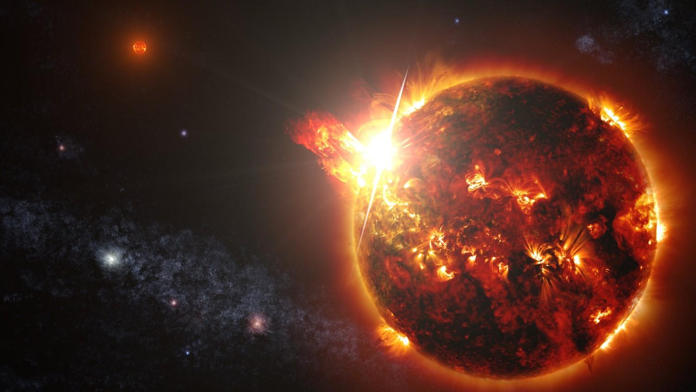 Огромная поперечная дыра появилась на Солнце