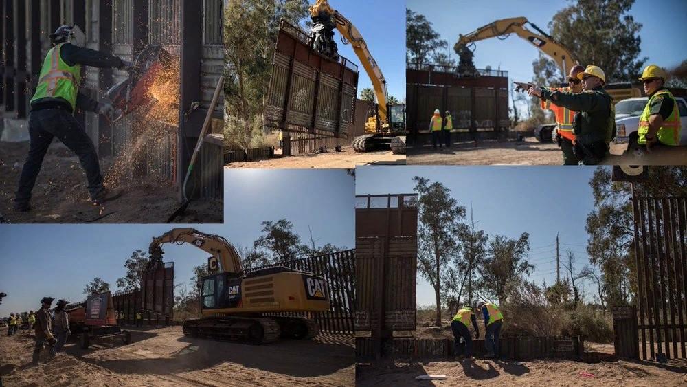 Дональд Трамп опубликовал фото строительства стены на границе с Мексикой