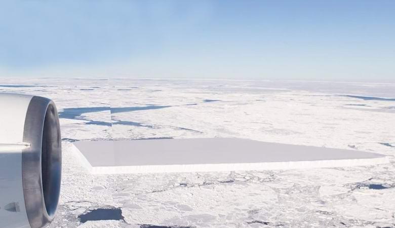 В НАСА рассказали, откуда взялся прямоугольный айсберг