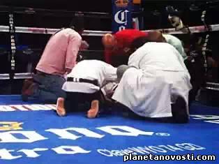Нокаут привел к смерти мозга у боксера
