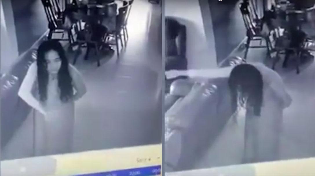 Житель Сингапура заснял на видео, как его невесту охватили злые духи