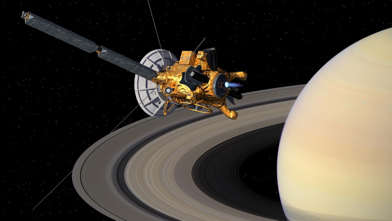 Кассини с орбиты вокруг Сатурна прислал запись голоса пришельца