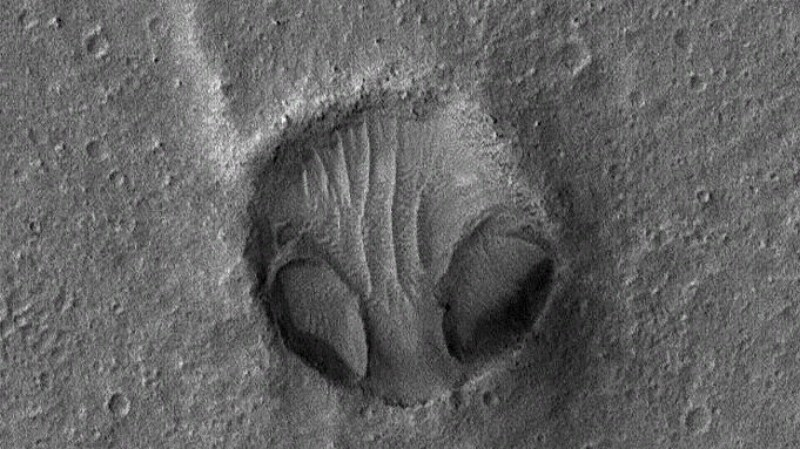 На снимках НАСА обнаружили «голову сердитого пришельца»