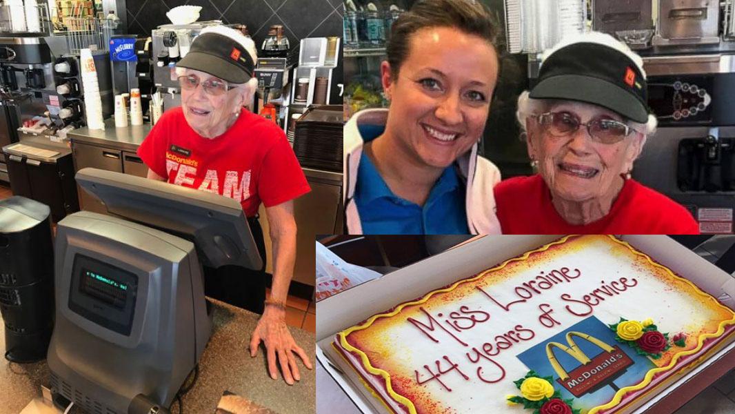94-летняя бабуля 44 года работает за кассой «McDonald's»