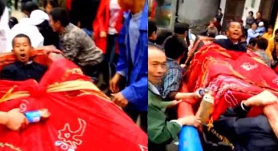 Житель Китая из любопытства организовал себе похороны при жизни