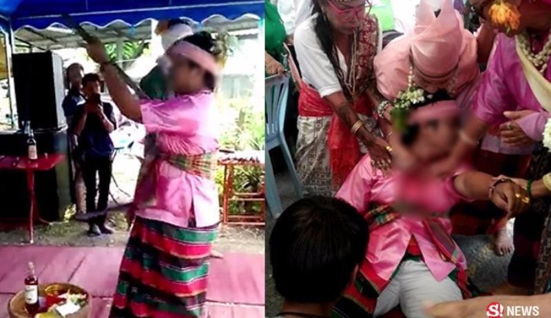 Для доказательства своего бессмертия тайский экстрасенс проткнул себя мечом