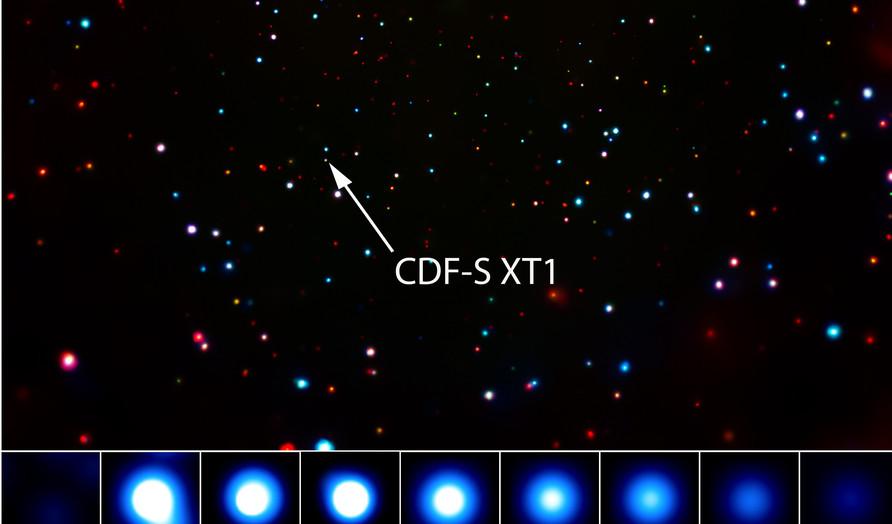 НАСА зафиксировали мегамощный взрыв в соседней галактике