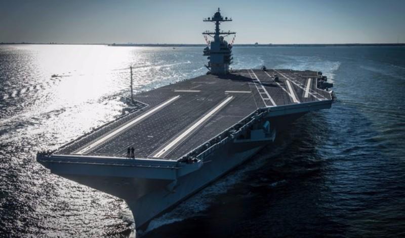 Самый дорогой авианосец в мире Gerald Ford начал испытания в море