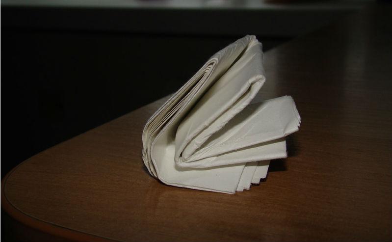 Можно ли с помощью гидравлического пресса сложить бумагу в восемь раз?