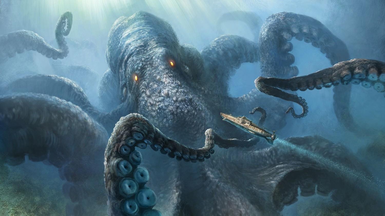 Почему гигантских кальмаров считали морскими чудовищами?
