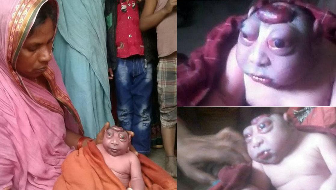 В Индии женщина родила мальчика, которого считают воплощением бога Ханумана
