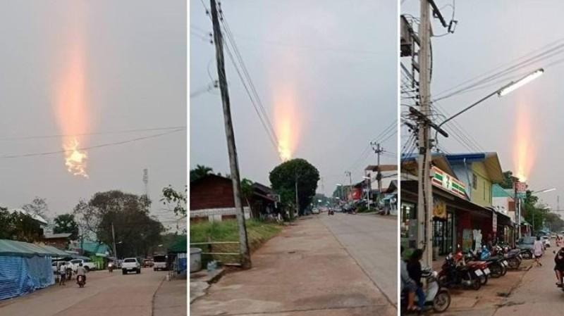 Нечто загадочное произошло в небе над Таиландом