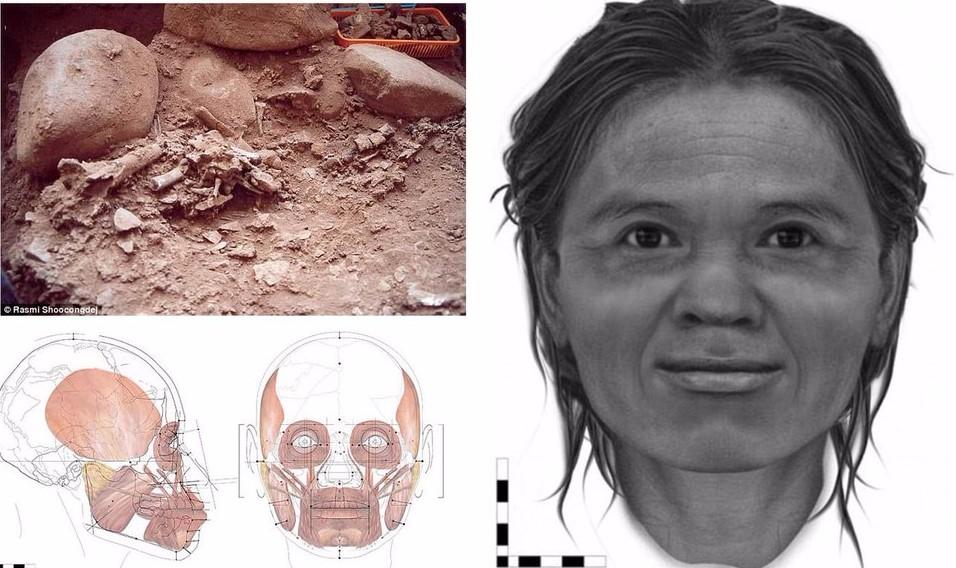 Ученые воссоздали лицо женщины из Таиланда, жившей на Земле 13 тыс. лет назад