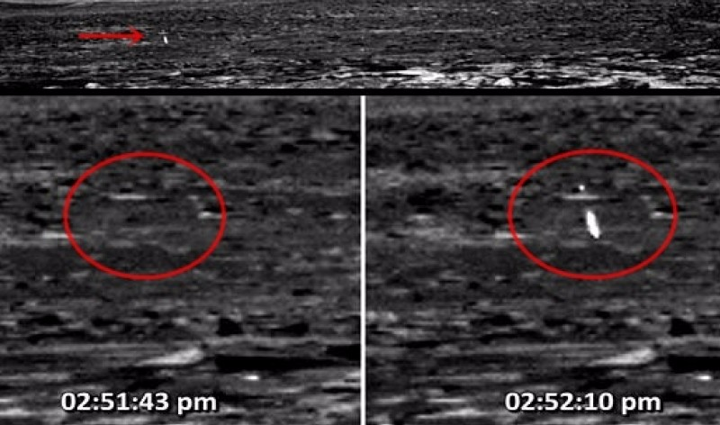 Марсоход Curiosity запечатлел на Марсе сферу, стреляющую лазером