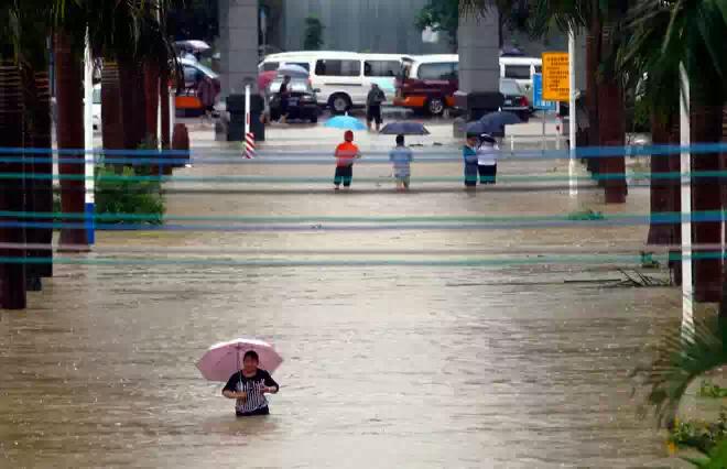 В Китае продолжается наводнение
