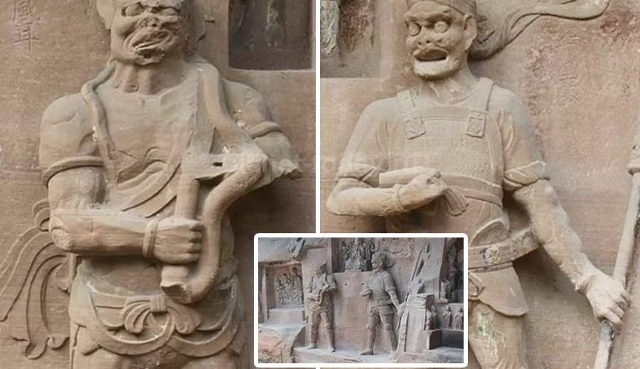 В Китае обнаружены две статуи с неизвестными механизмами