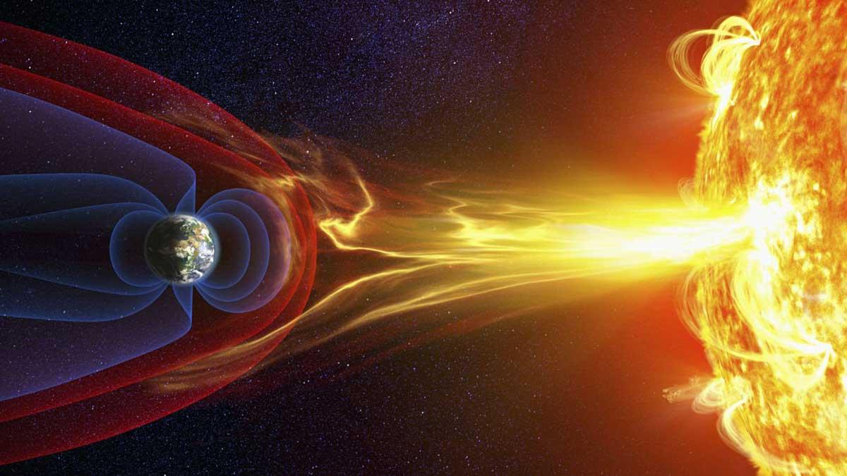 Мощный солнечный ветер образовал в магнитном поле Земли трещину