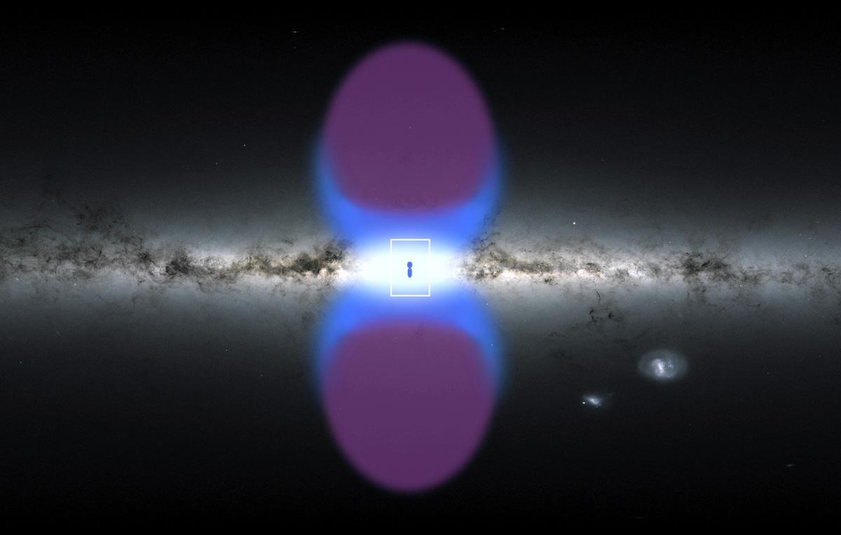 В центре Млечного Пути обнаружены новые гигантские пузыри