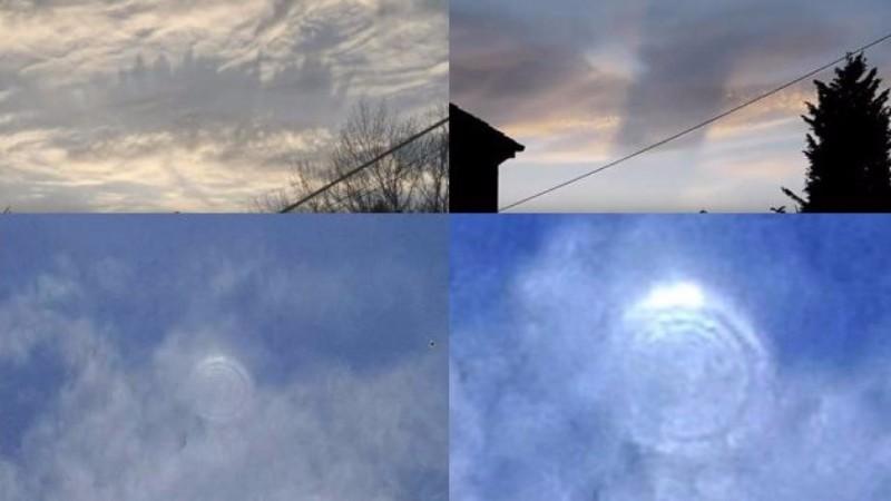 Жители разных стран наблюдают загадочные явления в небе