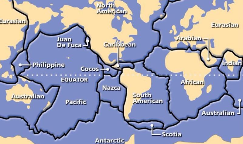 Создана первая «подземная» карта Земли, которая отображает расположение геологических плит